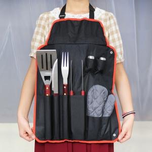 7-stuks-kookgerei-set-roestvrij-staal-bbq-vork-tang-messen-handschoen-schort-bbq-gereedschap-set-draaiers